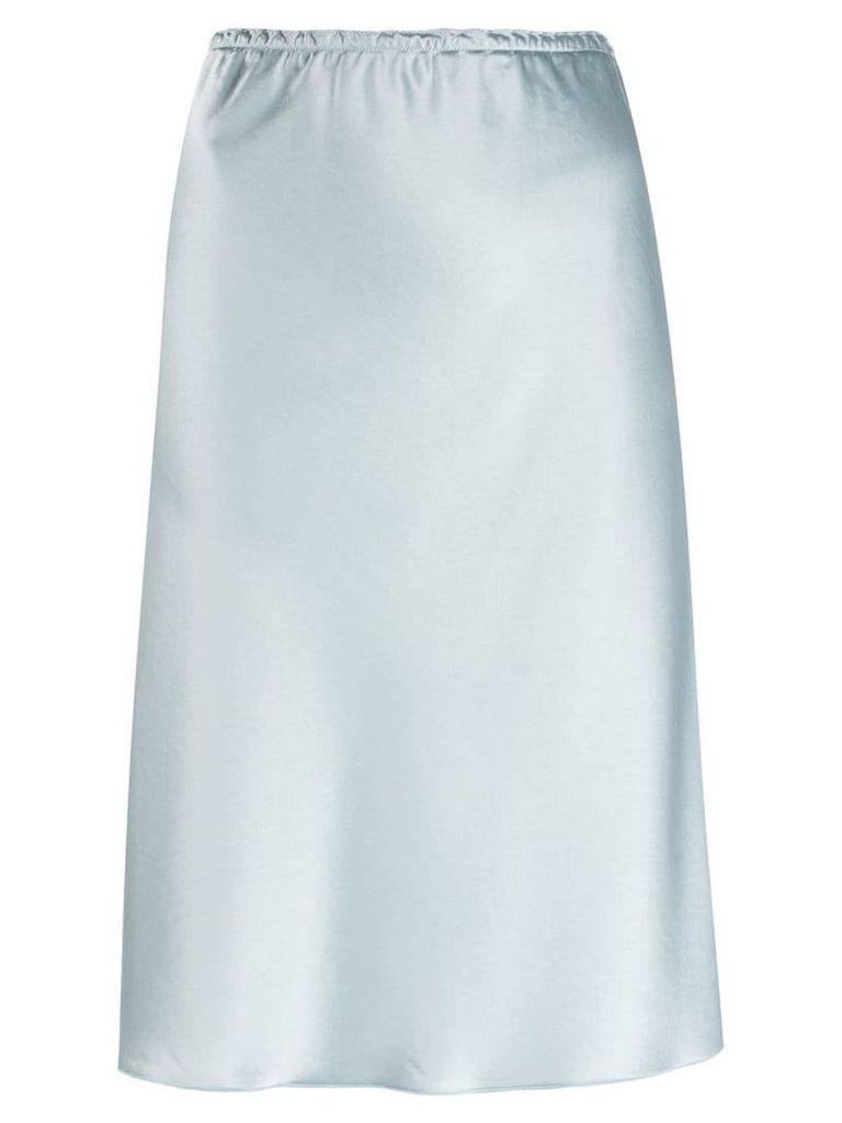 Alexa Chung plain fitted skirt - Blue