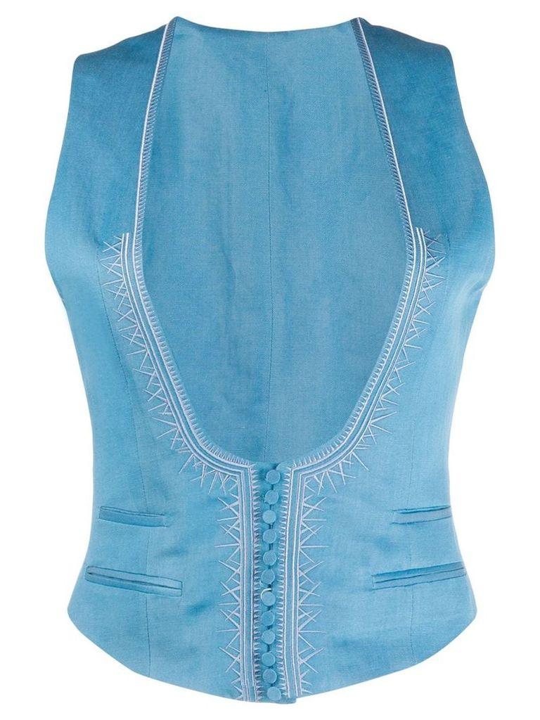 Haider Ackermann cotton waistcoat - Blue
