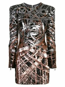 Balmain sequinned mini dress - Black