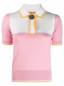 Nº21 embellished button polo shirt - Pink