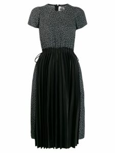 Comme Des Garçons Noir Kei Ninomiya contrast pleated dress - Black