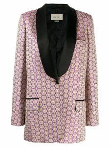 Gucci jacquard tuxedo blazer - Pink