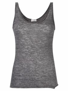 Saint Laurent striped tank top - Grey