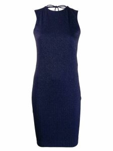 Fisico lurex fitted dress - Blue