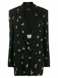 Rochas floral print blazer - Black