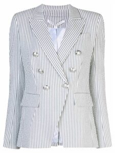 Veronica Beard striped double-breasted blazer - Grey