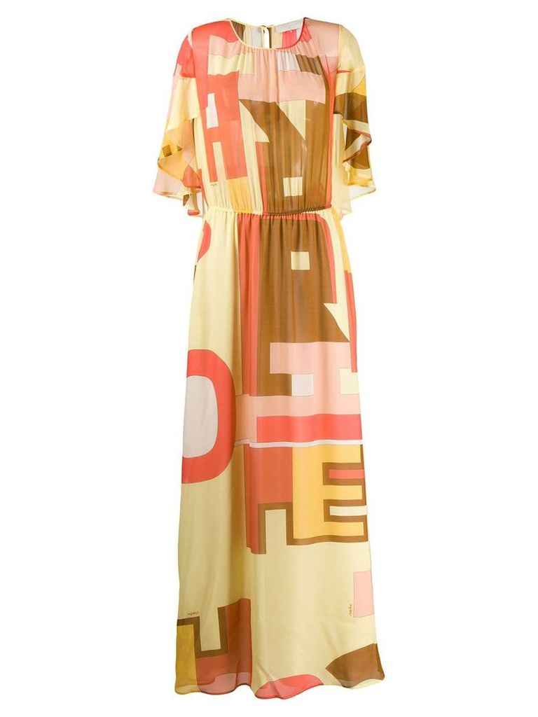L'Autre Chose abstract print dress - Yellow