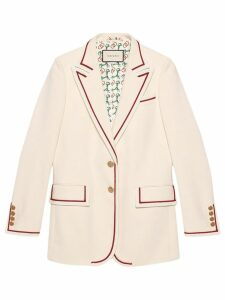 Gucci lined blazer - White