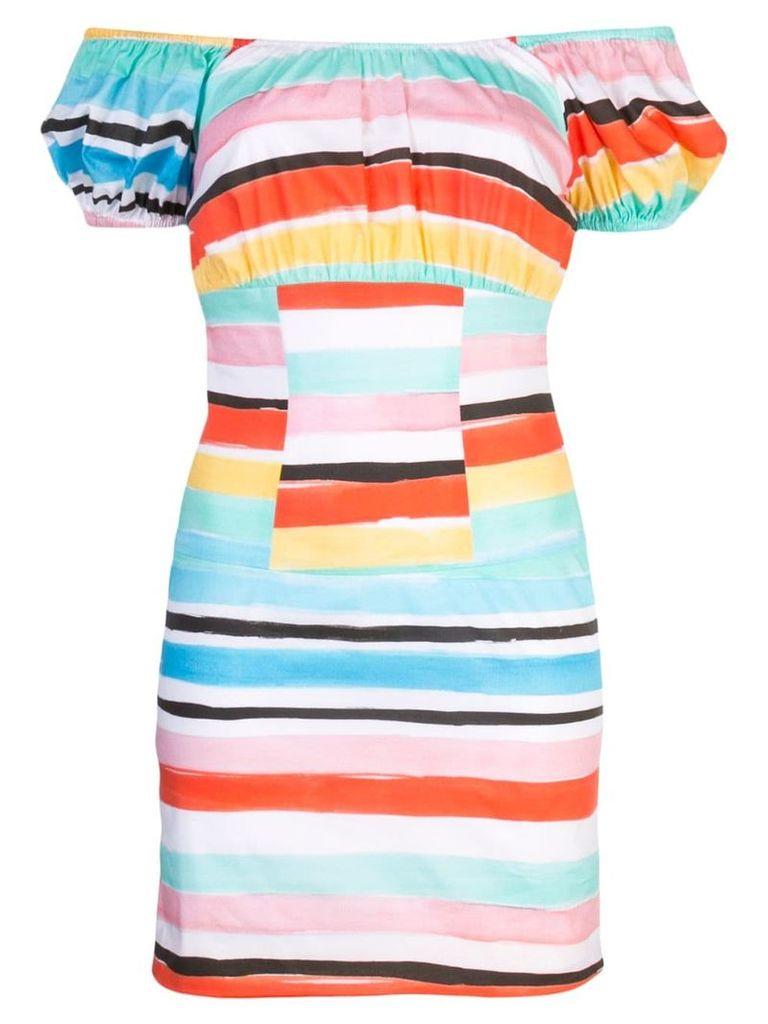 Caroline Constas striped pattern dress - Multicolour