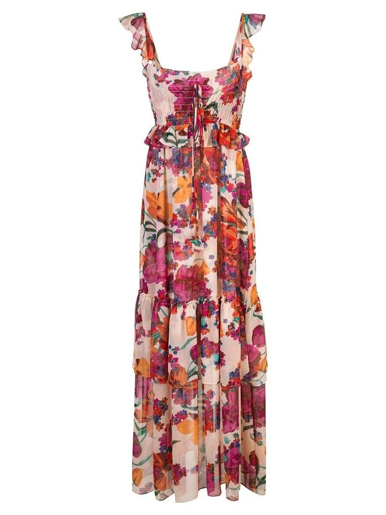 Misa Los Angeles ruffled floral dress - Multicolour