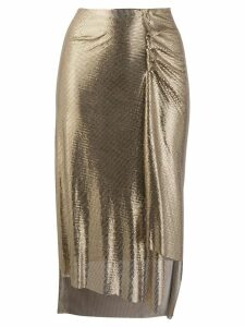 Paco Rabanne metallic ruched skirt - GOLD
