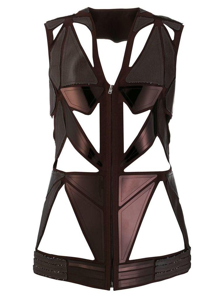 Rick Owens sculptured cut out vest