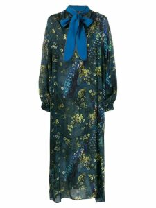 F.R.S For Restless Sleepers peacock print dress - Blue