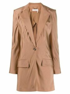 Chloé tailored longline blazer - Neutrals