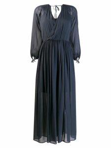 Semicouture wrap front midi dress - Blue