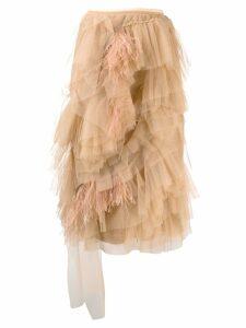 Nº21 tulle midi skirt - Neutrals