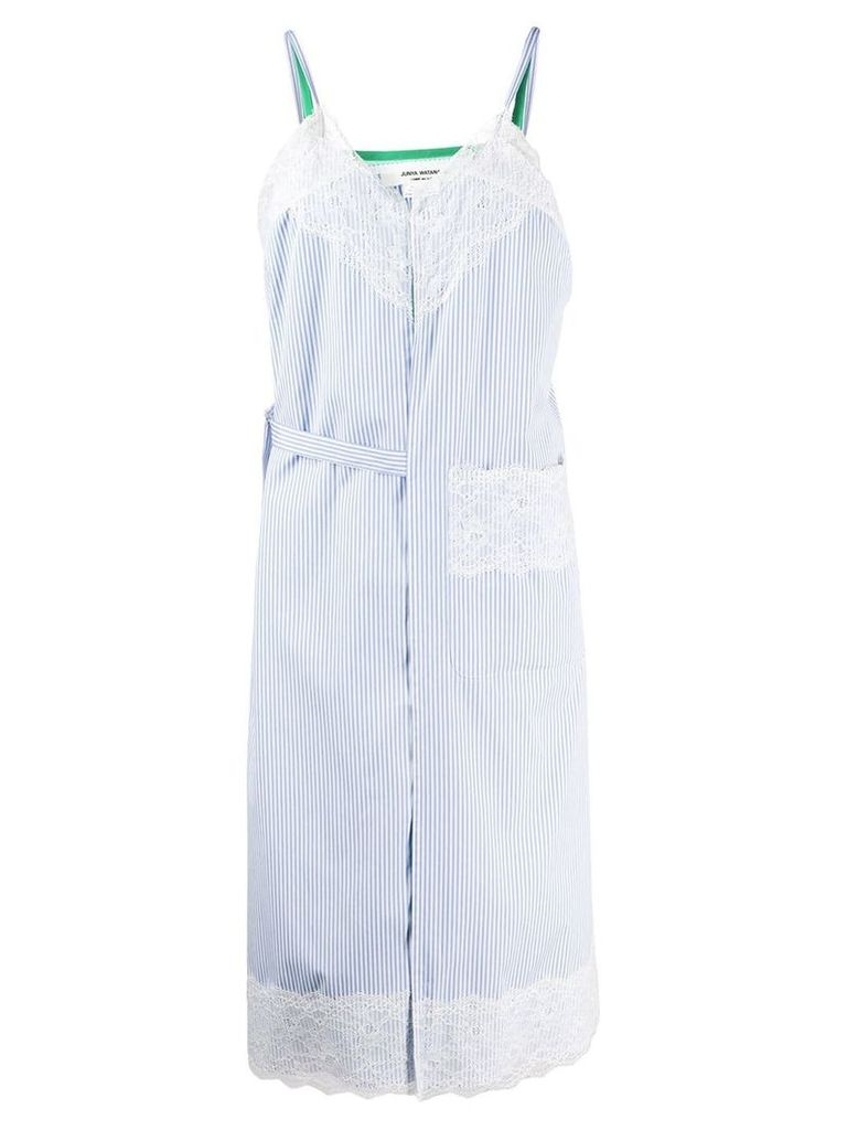 Junya Watanabe layered sleeveless dress - Blue