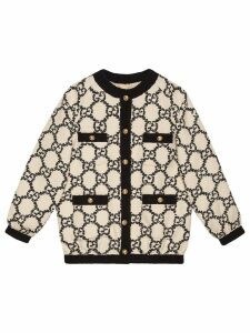 Gucci bomber in oversize tweed GG - White