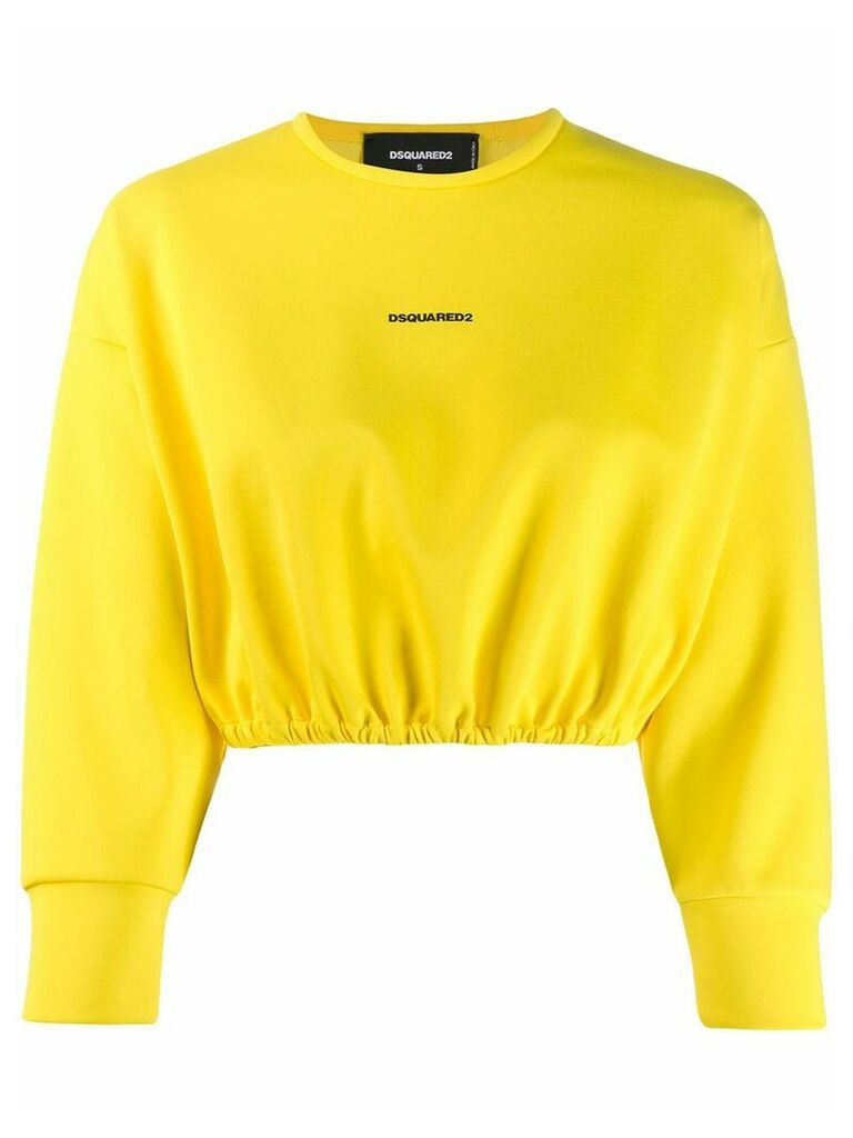 Dsquared2 contrast logo jumper - Yellow