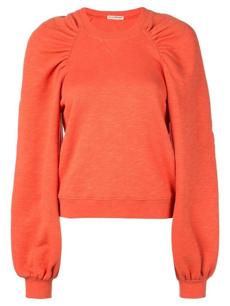 Ulla Johnson gathered shoulders sweatshirt - Pink