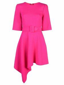 Oscar de la Renta drape front mini belted dress - Pink