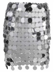 Paco Rabanne Pailette mini skirt - Silver