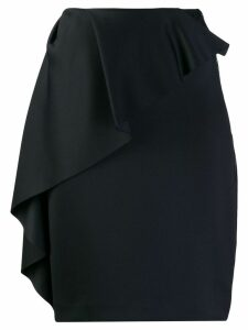 Lanvin ruffle-trimmed skirt - Black