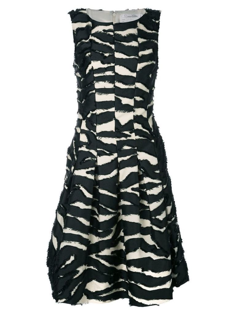Oscar de la Renta shredded panel cocktail dress - Black