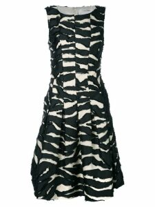 Oscar de la Renta shredded panel cocktail dress - Black