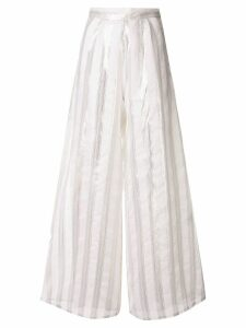 Taller Marmo striped wide leg trousers - White