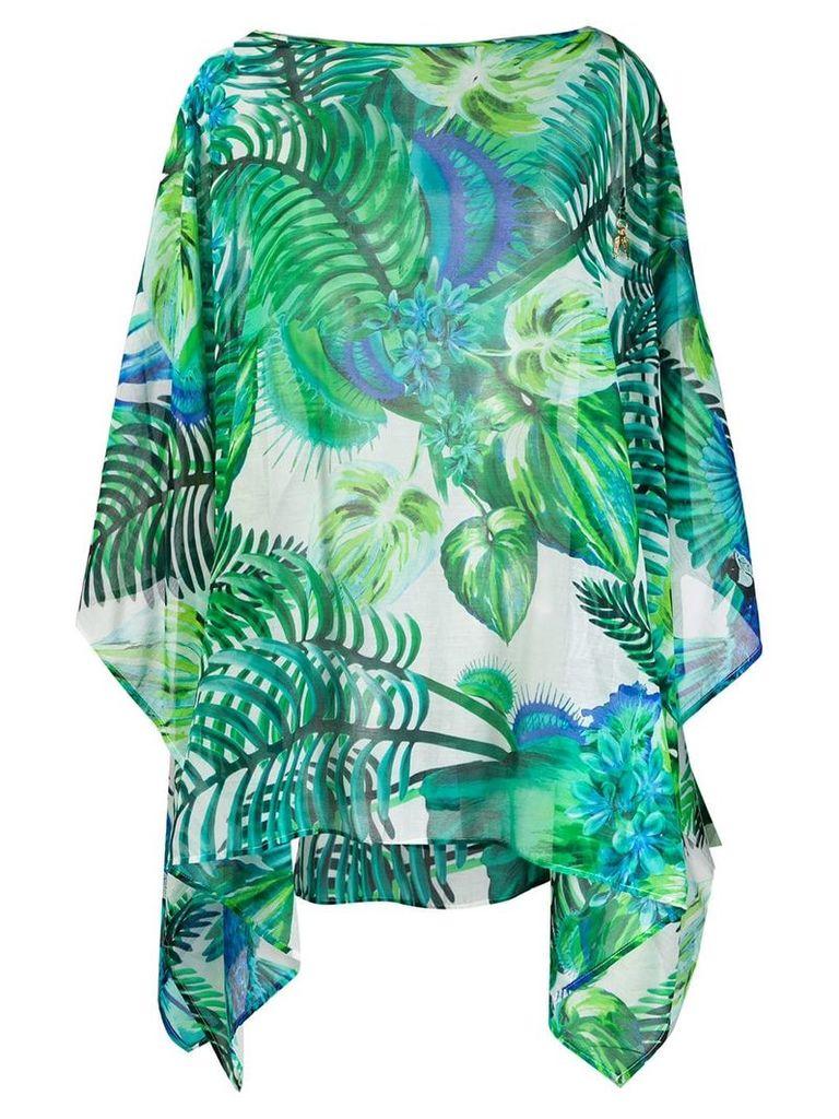 Roberto Cavalli palm tree print blouse - Green
