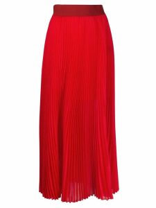 Poiret pleated midi skirt - Red
