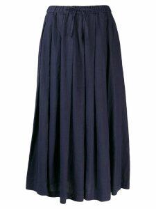 Aspesi long pleated skirt - Blue