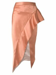 Maticevski ruffle draped skirt - Orange