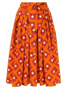 Aspesi pleated midi skirt - Orange