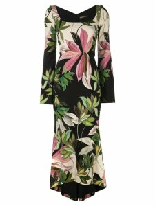 Christian Siriano Hawaiian print fitted dress - Multicolour