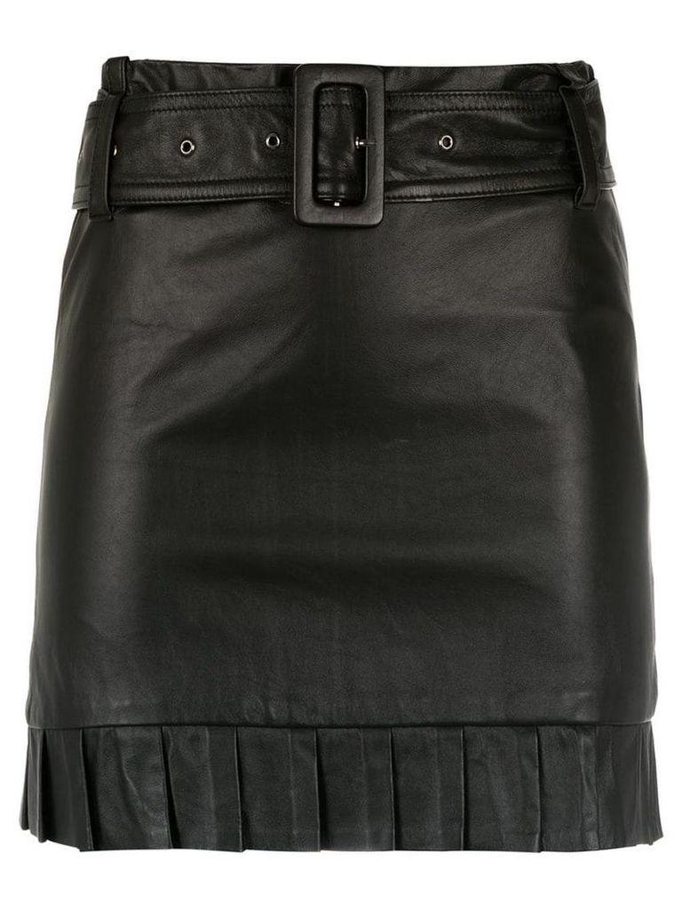 Andrea Bogosian belted leather skirt - Black