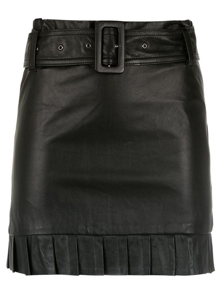 Andrea Bogosian belted leather skirt - Black