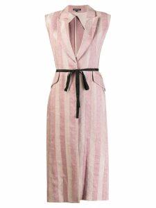 Ann Demeulemeester longline waistcoat - Pink