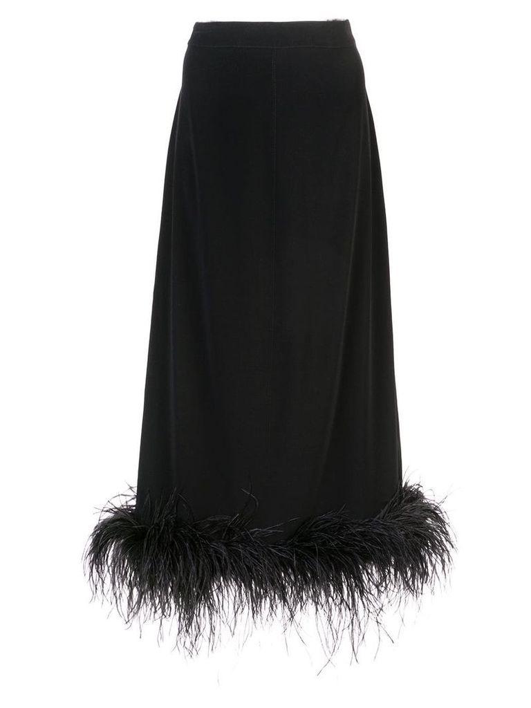 Co feather hem skirt - Black