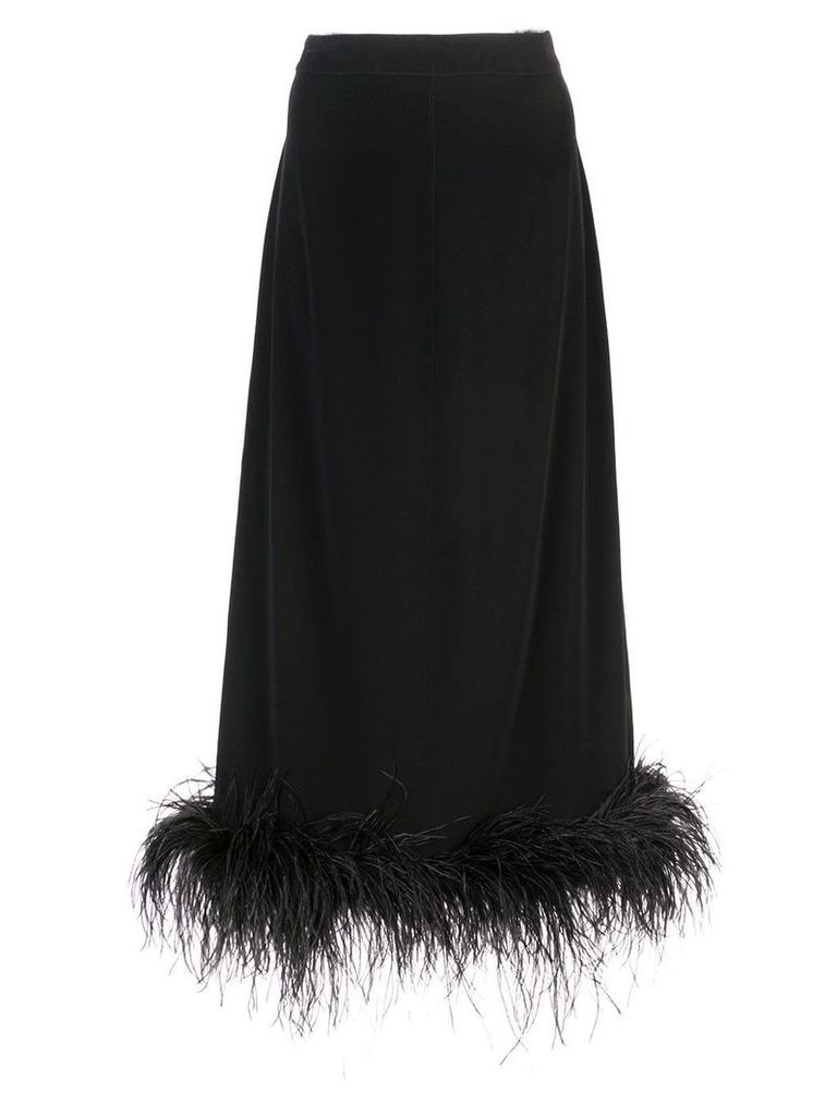 Co feather hem skirt - Black