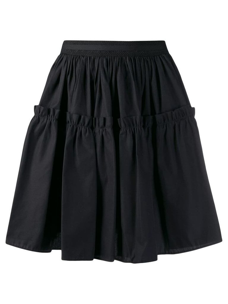 Fausto Puglisi high waisted full skirt - Black
