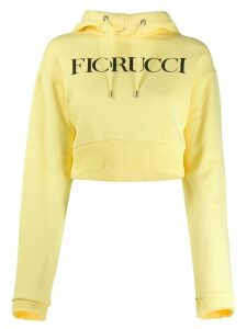 Fiorucci logo cropped hoodie - Yellow