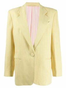 Horror Vacui single breasted blazer - Yellow