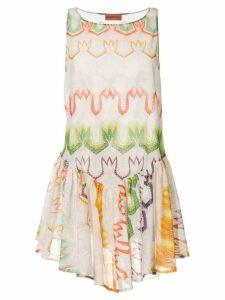 Missoni pleated printed beach dress - Multicolour