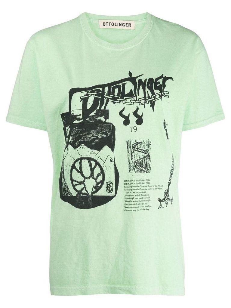 Ottolinger graphic print T-shirt - Green