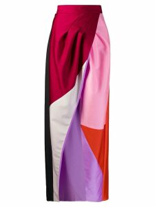 Fausto Puglisi colour block maxi dress - Pink