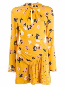 Self-Portrait floral mini dress - Yellow