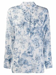 Gold Hawk floral print shirt - White