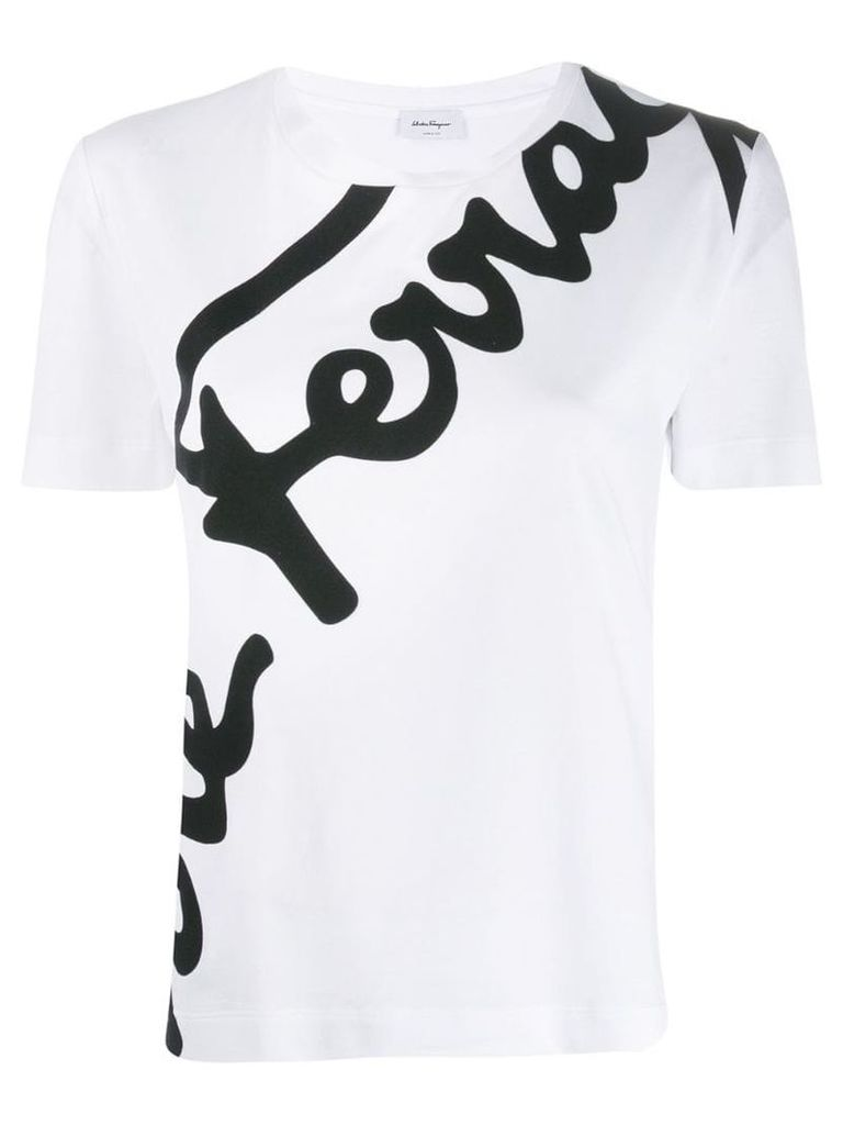 Salvatore Ferragamo logo print T-shirt - White